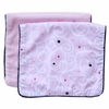 Luxe Light Pink Swirl Burp Cloth Set