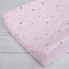 Luxe Light Pink Swirl Cotton Changing Pad Cover