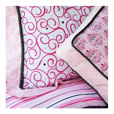 Luxe Pink Throw Pillow