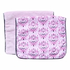 Luxe Pink Damask Burp Cloth Set
