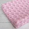 Luxe Pink Damask Cotton Changing Pad Cover