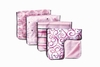 Luxe Pink Pinstripe Burp Cloth Set