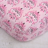 Luxe Pink Small Damask Crib Sheet