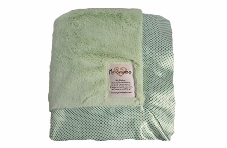 Luxe With Mini Dot Satin Trim Baby Blanket