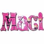 Maci Pink Dancer Hand Painted Wall Letters