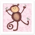 Maddie Monkey in Pink Canvas Reproduction