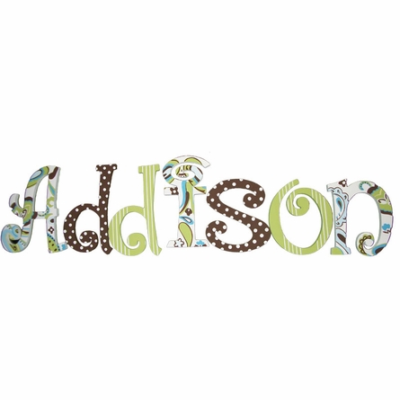 Maddison Green Paisley Splash Hand Painted Wall Letters
