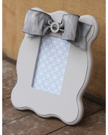 Madison Gray Scalloped Picture Frame