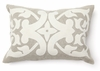 Madison Wool Applique Cream Throw Pillow