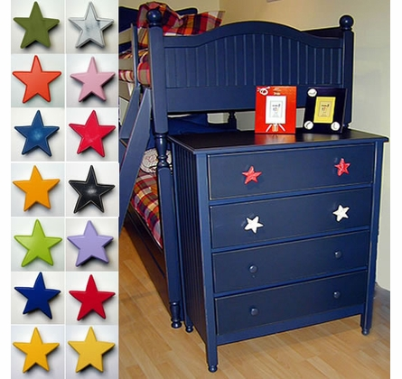 Magenta Star Drawer Pull