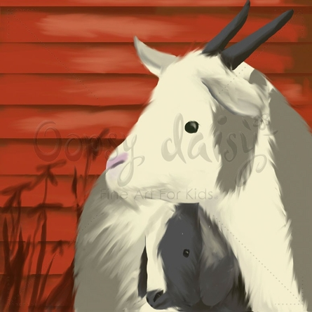 Maggie's Goats Canvas Wall Art