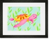 Maggie the Sea Turtle Framed Art Print