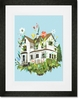 Magic Farmhouse Framed Art Print