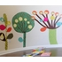 Magical Desert Trees Fabric Wall Decals