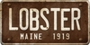 Maine Custom License Plate Art