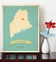 Maine My Roots State Map Art Print
