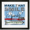 Make That Smile Sparkle Framed Art Print