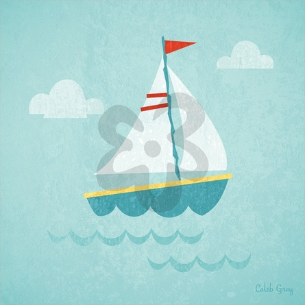Making Waves Sailboat Canvas Wall Art