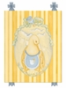 Mama Duck Canvas Reproduction - Blue