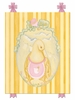 Mama Duck Canvas Reproduction - Pink