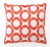 Mango Mod Link Linen Embroidered Pillow