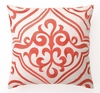 Mango Tile Linen Embroidered Pillow