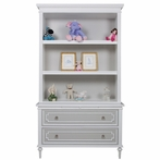 Marcheline Bookcase in Dior Grey and Snow