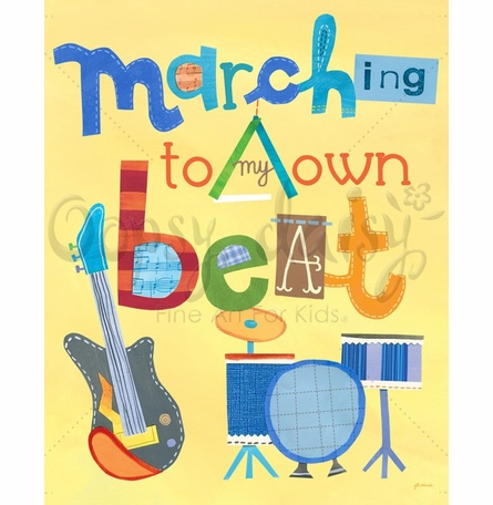 Marching To My Own Beat Poster Wall Decal