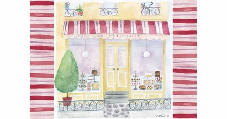 French Storefronts Placemats - Set Of Four
