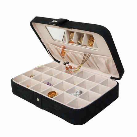 Maria Plush Jewelry Box in Black
