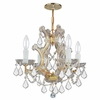 Maria Theresa Four Light Clear Crystal Gold Mini Chandelier II