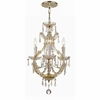 Maria Theresa Four Light Elements Crystal Gold Mini Chandelier I