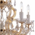 Maria Theresa Polished Gold Crystal Chandelier