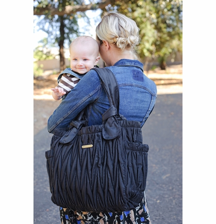 Marie Antoinette Diaper Bag - Black