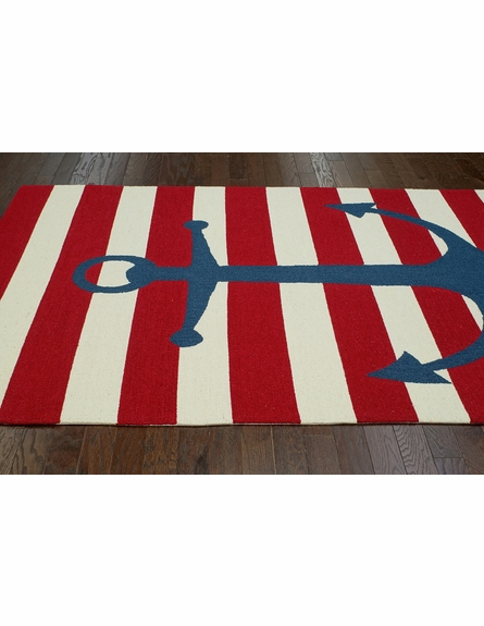 Marigot Anchor Rug in Red