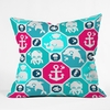 Marine Pattern Throw Pillow