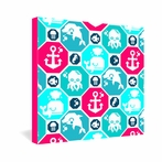 Marine Pattern Wrapped Canvas Art
