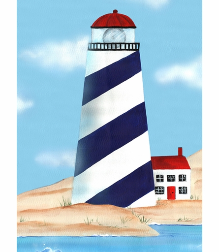 Maritime Lighthouse Canvas Reproduction