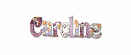 Marli Jungle Animals Hand Painted Wall Letters