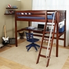 Knock Out High Loft Bed with Built-In Desk