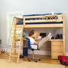 Knock Out High Loft Bed with Desk