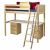 Knock Out High Loft Bed with Pedestal Desk