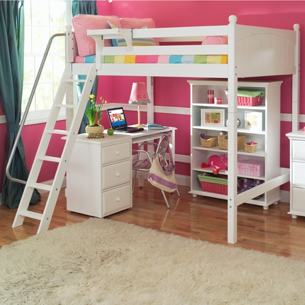 Knock Out Slatted High Loft Bed