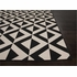 Marquise Rug in Black and Ivory