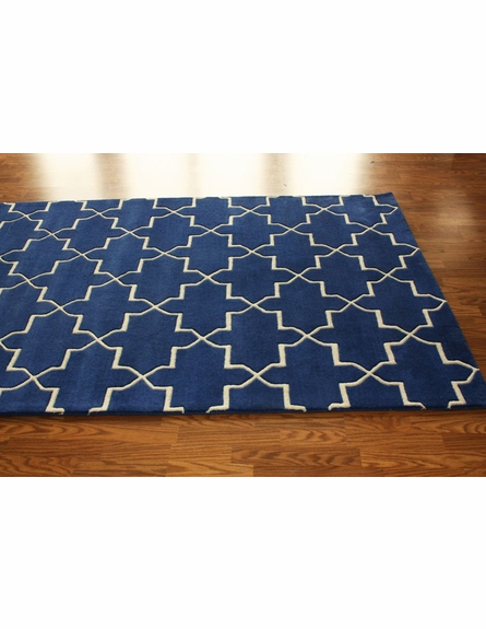 Marrakesh Trellis Rug in Blue Rain