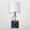 Mars Clear Crystal Sphere Wall Sconce