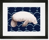 Martha the Manatee Framed Art Print