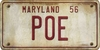 Maryland Custom License Plate Art