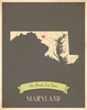 Maryland My Roots State Map Art Print - Blue