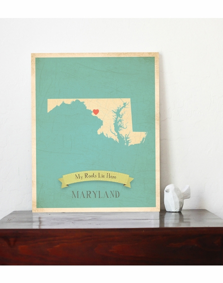 Maryland My Roots State Map Art Print